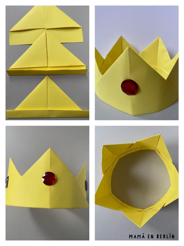 corona reyes magos manualidades con papel niños disfraces