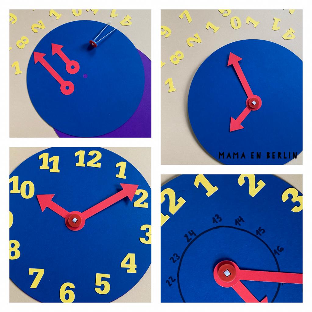 manualidades reloj niños aprender la hora